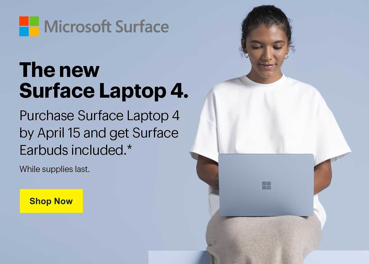 Free Earbuds W/ Microsoft Surface Laptop 4 Purchase