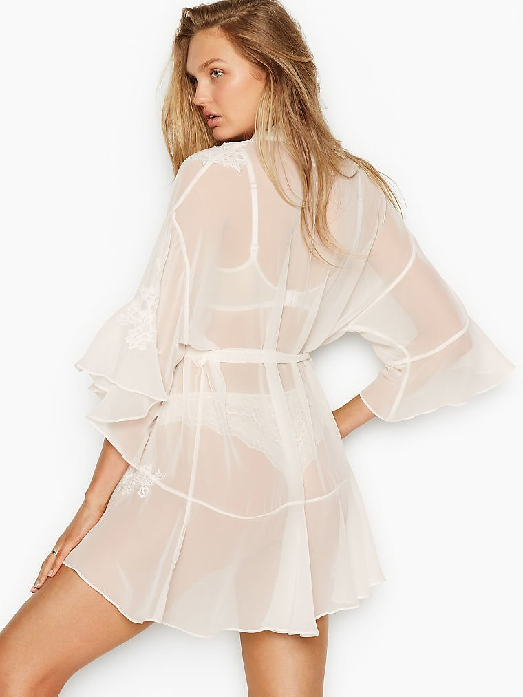 Embroidered Lace Robe