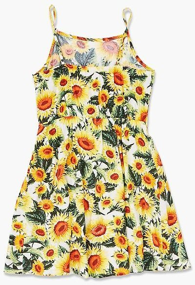 22% OFF Girls Sunflower Print Dress (Kids)