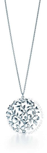 Paloma Picasso Olive Leaf Medallion Pendant In Sterling Silver