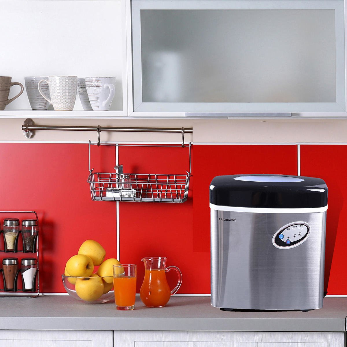 Frigidaire Extra-Large Ice Maker, Stainless Steel