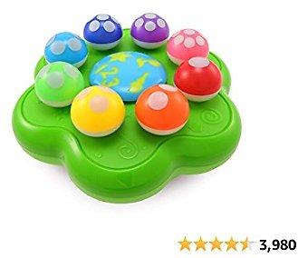 BEST LEARNING Mushroom Garden - Interactive Educational Light-Up Toddler Toys for 1 to 3 Years Old Infants & Toddlers - Colors, Numbers, Games & Music for Kids