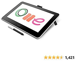 Wacom DTC133W0A One Digital Drawing Tablet with Screen, 13.3 Inch Graphics Display for Art and Animation Beginners
