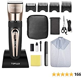 Hair Clippers - Professional Hair Clippers for Men, Mens Hair Clippers for Hair Cutting, Electric Hair Trimmer for Men Haircut, Cordless Rechargeable Hair Cutting Kit for Barbers with LED Display