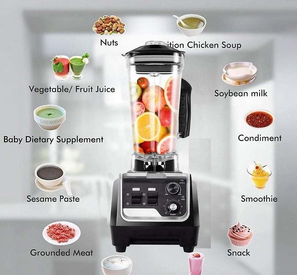BATEERUN Professional Blender with 68 Oz Tritan Pitcher, 2200W High Speed Countertop Commercial Blender for Shakes and Smoothies with Adjustable Speeds Control for Ice Shake, Black