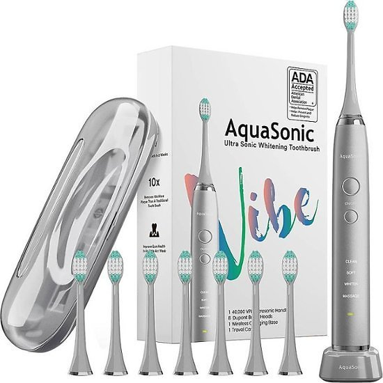 Save $10 AquaSonic Vibe Series Rechargeable Electric Toothbrush