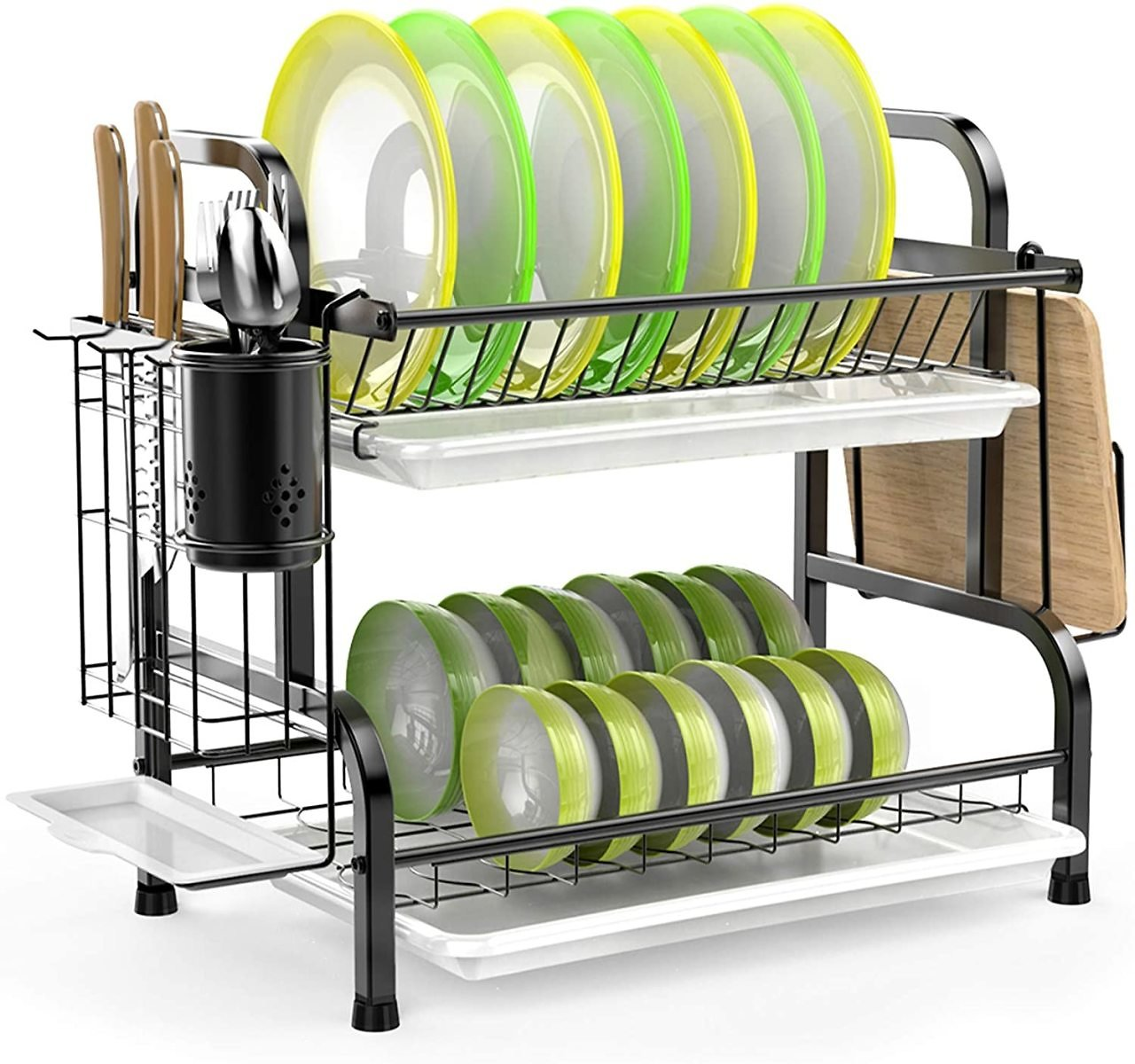 Stainless Steel 2-Tier Dish Drying Rack