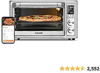 COSORI CS130-AO Smart 12-in-1 Air Fryer Toaster Oven Combo Silver