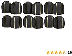 AmazonCommercial Non-Marring Polyester-Cap Knee Pads, 9.5 In, Black, 6 Pair