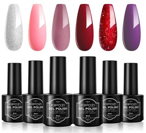 Kipozi Gel Nail Polish Sets, 6 Colors Kit