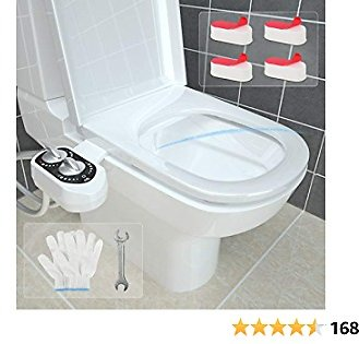 50% OFF Bidet Toilet Seat - Toilet Warm & Cold Bidet - Toilet Seat Water Jet - Adjustable Water Pressure Bidet