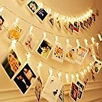 Amazon : 40 LEDs 20 Photo Clips String Fairy Lights For $5.40