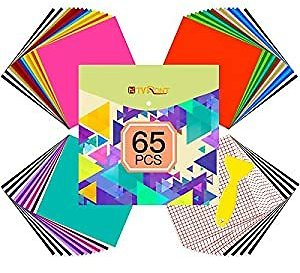 Amazon #AD : 65 Pack Permanent Adhesive Vinyl Sheets Set For $20.99
