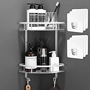 Amazon : 2 Tiers Corner Shower Caddy For $15.40