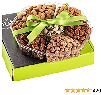 Holiday Nuts Gift Basket - Extra Large 2LB - Sweet & Salty Dry Roasted Gourmet Gift Basket - Food Gift Basket for Christmas, Thanksgiving, Fathers Day, Mothers Day, Sympathy, Family, Men & Women