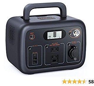 Power Station 300W, 300Wh Portable Solar Generator, Pure Sine Wave AC Outlets, Wireless Charging, Mobile Backup Battery for CPAP/Outdoor Camping/Outage Emergency