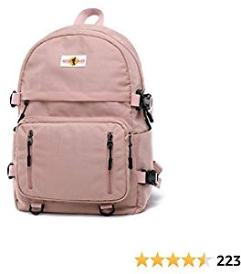 Casual College Dayback Durable Laptop Backpack Lightweight School Bag for Teens (Pink)
