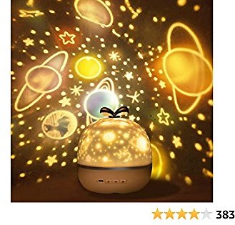Misognare Baby Night Light Rechargeable Star Projector Lamp with 360 Degree Rotation for Bedroom Party Christmas Decoration