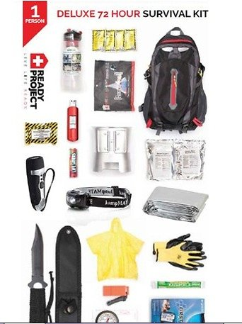 1-Person Deluxe 72 Hour Survival Kit