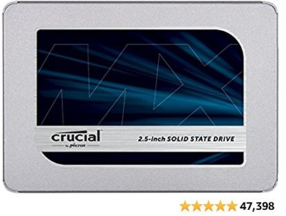 9% Off Crucial MX500 1TB 3D NAND SATA 2.5 Inch Internal SSD, Up to 560MB/s - CT1000MX500SSD1(Z)
