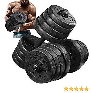 MOVTOTOP Adjustable Dumbbell Set 66 LBS, Solid Steel Weight Dumbbells for Women AndMen, Safe and Durable Dumbbells Barbell Set with Connecting Rod for Exercise Training