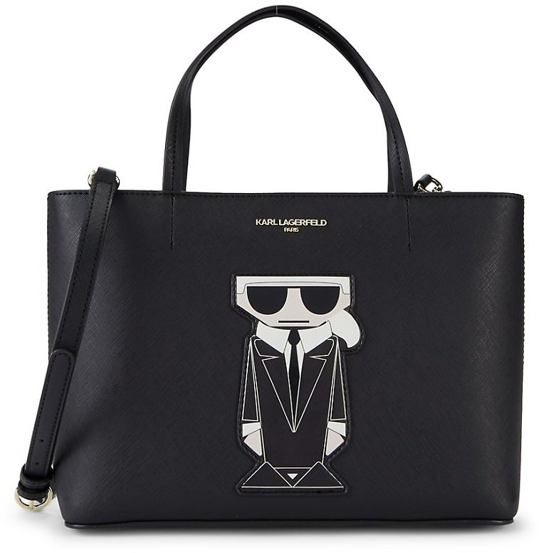 Karl Lagerfeld Paris Maybelle Boxy Faux Leather Tote On SALE