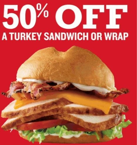 50% Off Sandwich or Wrap with Email Sign Up