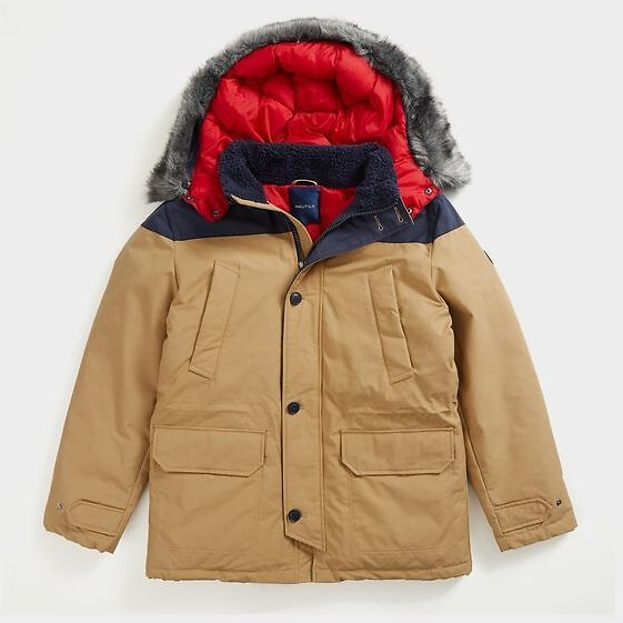 SUSTAINABLY CRAFTED TEMPASPHERE COLOBLOCK PARKA