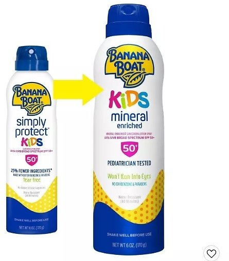 Buy 1, Get 1 25% Off Banana Boat Kids Mineral Enriched Sunscreen Spray