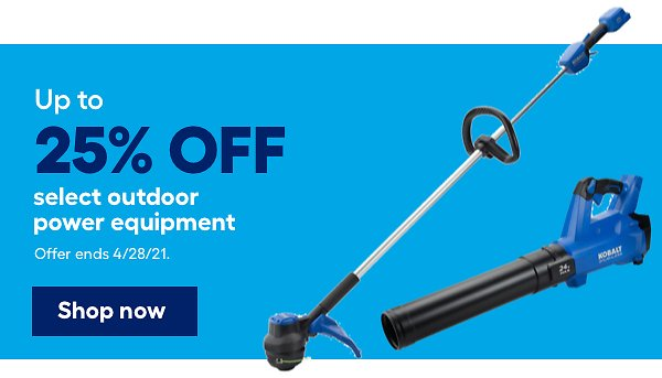 Up To 25% Off Select Outdoor Tools And Equipment Sale