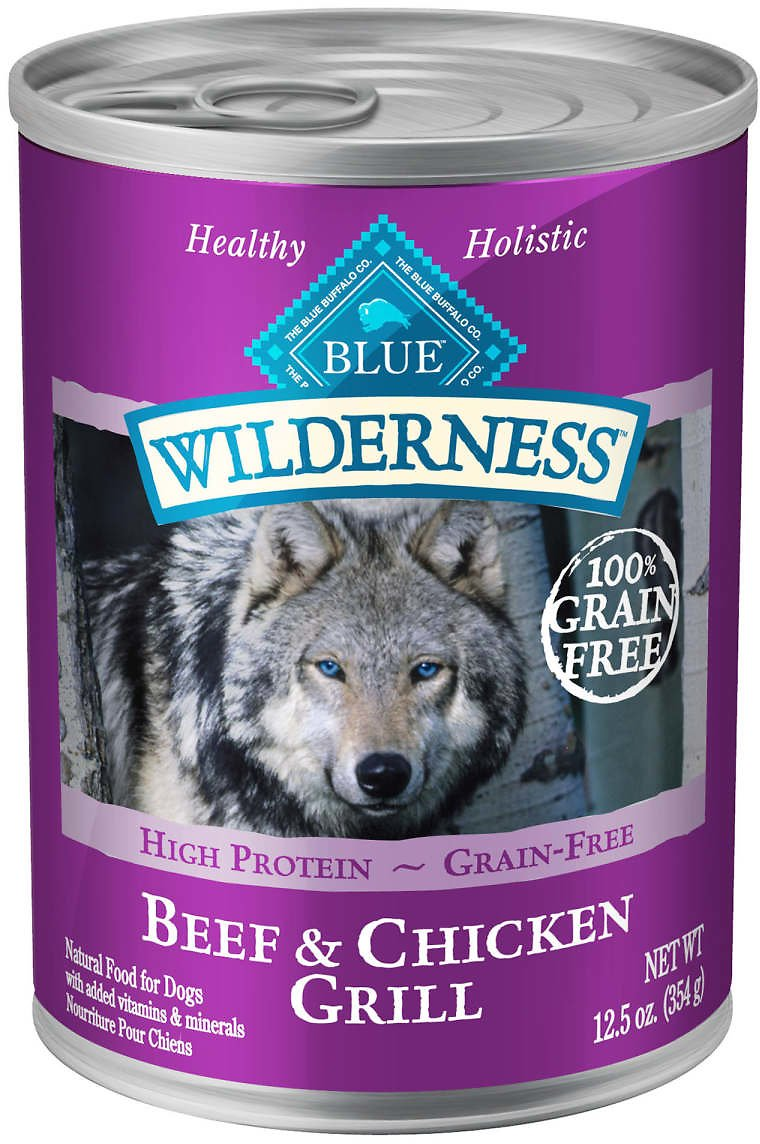 Blue Buffalo Blue Wilderness Beef & Chicken Grill Adult Wet Dog Food, 12.5 Oz., Case of 12 | Petco