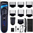 Hatteker Mens Hair Trimmer Clipper Body Hair Groomer Electric Beard Trimmer Hair Cutting Grooming Kit Cordless Back Shavers Waterproof USB Rechargeable: Health & Personal Care