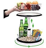 2-Tier Cabinet Turntable Lazy Susan, SEALON 360 Degrees Kitchen Rotatable Shelf Liftable for Condiment Bottles Bowl Spoon Fork (2-Tier): Kitchen & Dining