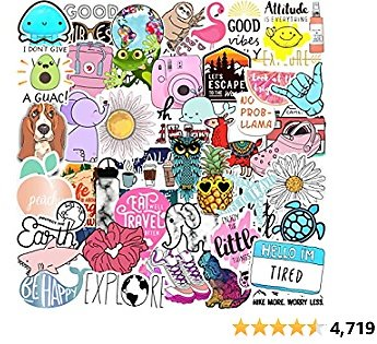 70 VSCO Stickers, Aesthetic Stickers, Cute Stickers, Laptop Stickers, Vinyl Stickers, Stickers for Water Bottles, Waterproof Stickers, Stickers for Kids Teens Girls, Computer Stickers, Sticker Pack