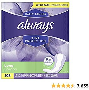 Always Xtra Unscented 108 Count