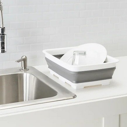 Collapsible Plastic Drain Tray