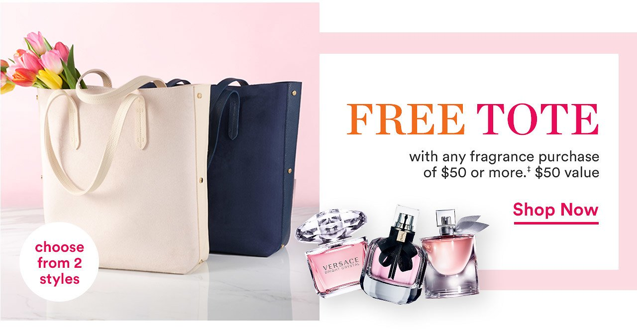 Free Choice of Tote Bag with $50 Fragrance Purchase - Ulta Beauty
