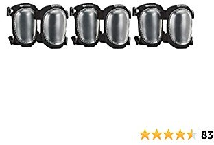AmazonCommercial Easy Swivel Knee Pads, 9 In, Clear, 3 Pair