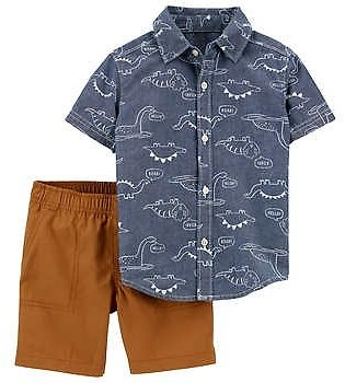 Carters Kids 2-piece Set, Dino