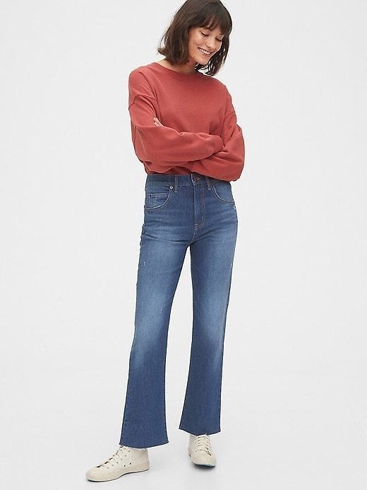 High Rise Ankle Flare Jeans | Gap