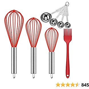 Ouddy (Upgraded) 5 Pack Silicone Whisk, 8