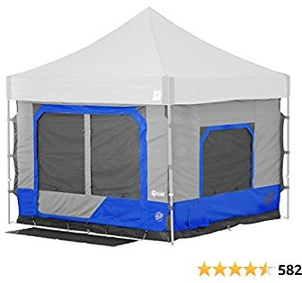 21% Off E-Z UP Camping Cube 6.4, Converts 10' Straight Leg Canopy Into Camping Tent, Royal Blue