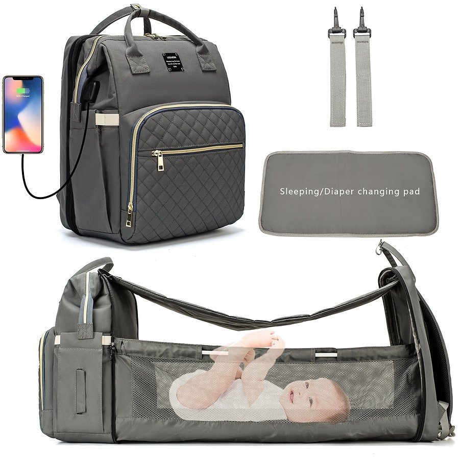 Maternity Travel Backpack for Baby Care with Changing Pads