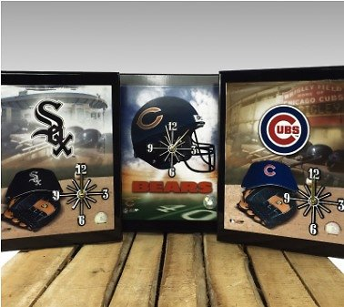 Officially Licensed Chicago Pro Team Quartz Wall Clocks - NFL and MLB - SHIPS FREE! - 13 Deals