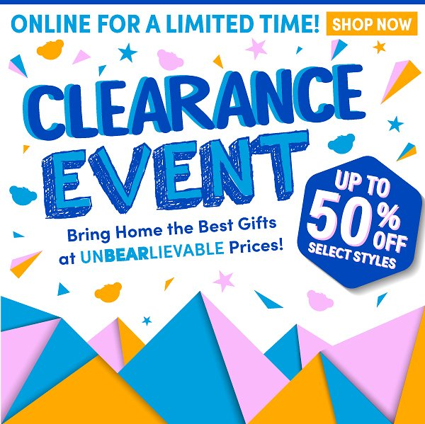 Up to 50% OFF! Clearance Event - Build a Bear