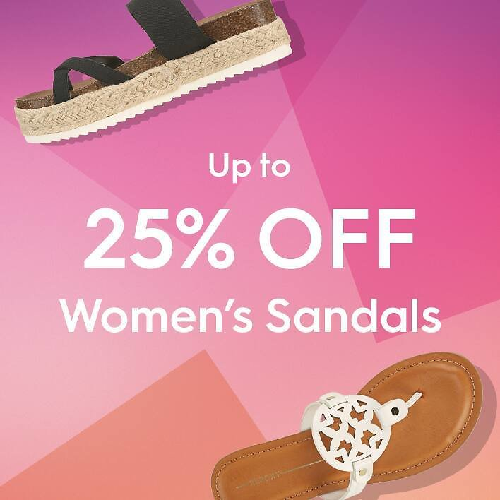 Up To 25% Off Fashion and Comfort Sandals - Famous Footwear