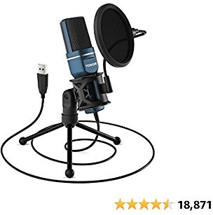 USB Microphone, TONOR Computer Condenser PC Gaming Mic with Tripod Stand