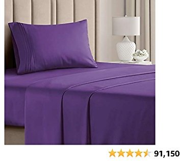 20% Off Twin XL Sheet Set - 3 Piece - College Dorm Room Bed Sheets