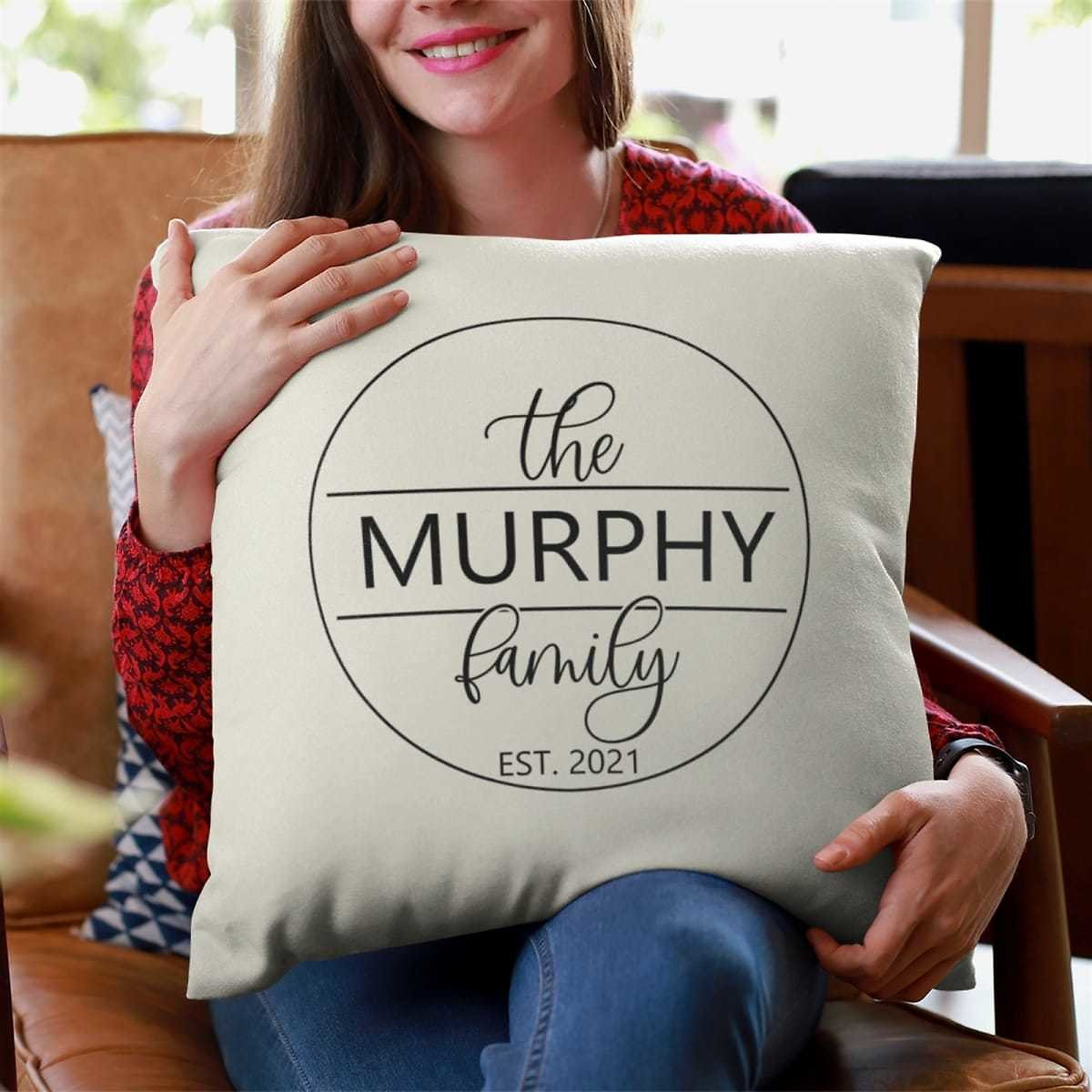 50% Off Personalized Family Pillow Covers + Free Shipping