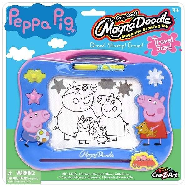 Cra-Z-Art Peppa Pig Travel Magna Doodle Magnetic Screen Drawing Toy